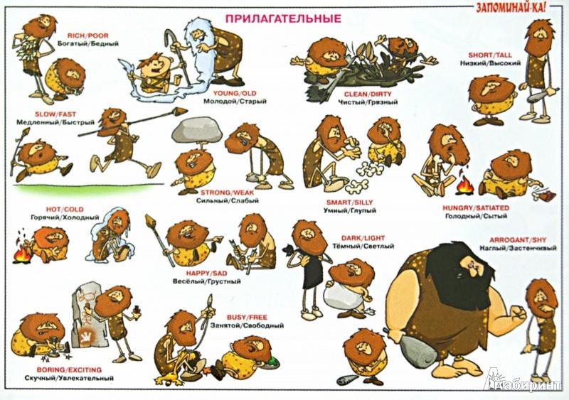 Иллюстрация 1 из 22 для Английская грамматика. Прилагательные. Таблица-плакат   Лабиринт - книги. Источник: Лабиринт
