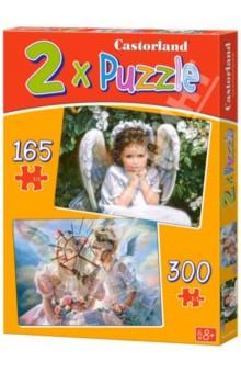 Настольная игра Ангелы. Пазл 2 в 1 (165x300 элементов)
