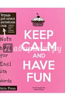 Тетрадь для записи английских слов (Постер розовый)