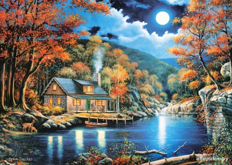"""Иллюстрация 1 из 5 для Puzzle-2000 """"Домик на озере"""" (C-200504)   Лабиринт - игрушки. Источник: Лабиринт"""