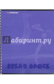 """Тетрадь 80 листов, клетка """"Dancing"""", в ассортименте (811449-75) Silwerhof"""