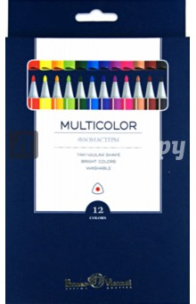 "Фломастеры ""Multicolor"" (12 цветов) (32-0002) Bruno Visconti"