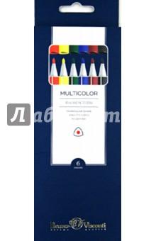 Фломастеры Multicolor (6 цветов) (32-0001)Фломастеры 6 цветов (1—8)<br>Фломастеры, в наборе 6 цветов.<br>Предназначены для рисования.<br>Эргономичная трехгранная форма корпуса снижает усталость пальцев во время рисования и обеспечивает комфортное использование.<br>Корпус из полипропилена имеет повышенную устойчивость к деформации, при поломке не образует острых краев.<br>Яркие, сочные цвета. Чернила на водной основе не токсичны, безопасны для детей, легко смываются с рук и одежды.<br>Наконечники изготовлены из высококачественного синтетического волокна.<br>Фломастеры снабжены безопасными вентилируемыми колпачками.<br>Ширина линии - 1 мм.<br>Толщина пишущего узла - 3 мм.<br>Для детей от 3-х лет.<br>Сделано в Китае.<br>
