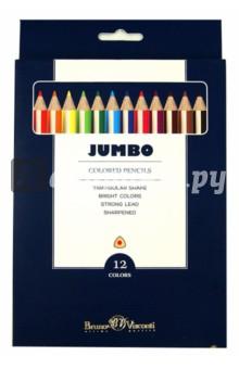 Цветные карандаши утолщенные JUMBO 12 цветов (30-0006)Цветные карандаши 12 цветов (9—14)<br>Карандаши цветные, 12 цветов. Предназначены для рисования. Деревянный корпус. Утолщенная форма Jumbo особенно удобна для маленьких детских пальчиков. Эргономичная трехгранная форма карандаша снижает усталость и обеспечивает максимальный комфорт при использовании. Яркие цвета. Предварительно заточенные. Прочный неломающейся грифель. Многослойная прокраска корпуса предотвращает скольжение пальцев. Размер карандаша 178х10 мм. Диаметр грифеля 5мм.<br>Производство: КНР<br>
