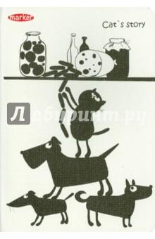 Записная книжка Cat story (А5, в клетку, 8 дизайнов) (M-820560N)Записные книжки большие (формат А5 и более)<br>Записная книжка.<br>Формат: А5<br>Количество листов: 60<br>Блок: офсет премиум класса<br>Разлиновка: клетка<br>Крепление: прошивка<br>Дизайн в ассортименте.<br>Сделано в России.<br>