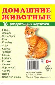 """Раздаточные карточки """"Домашние животные"""""""