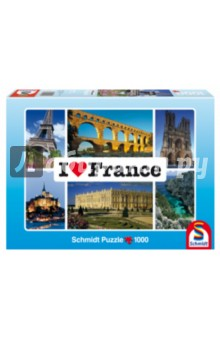 "Пазл-1000 ""Я люблю Францию"" (59282) Schmidt"