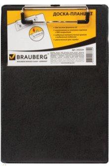 Доска-планшет с верхним прижимом, A5, черная (232224) Brauberg