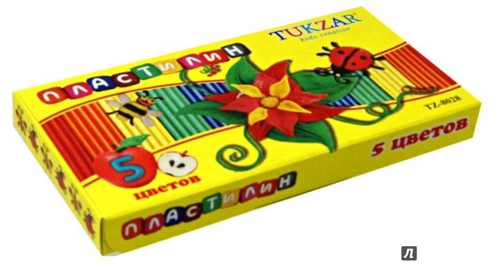 Иллюстрация 1 из 6 для Пластилин (5 цветов, 120 гр) (TZ 8028) | Лабиринт - игрушки. Источник: Лабиринт