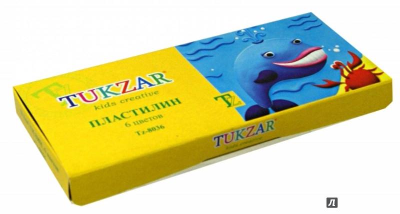 Иллюстрация 1 из 3 для Пластилин (6 цветов, 140 гр ) (TZ 8036)   Лабиринт - игрушки. Источник: Лабиринт