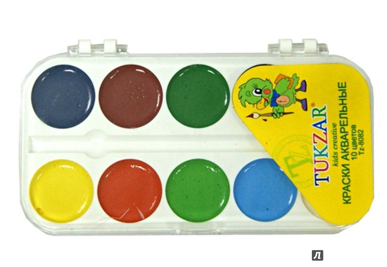 Иллюстрация 1 из 4 для Краски акварельные (10 цветов) (TZ 8082) | Лабиринт - канцтовы. Источник: Лабиринт
