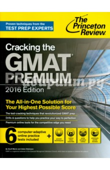 Cracking the GMAT Premium Edition with 6 Computer-Adaptive Practice Tests, 2015Английский язык<br>Get all the prep you need to ace the GMAT with The Princeton Review, including 6 CAT practice exams, thorough topic reviews, and exclusive access to our online Premium Portal with tons of extra resources.<br>Techniques That Actually Work. <br>- Powerful tactics to avoid traps and beat the GMAT<br>- Tips for pacing yourself and guessing strategically<br>- Essential strategies to help you work smarter, not harder<br>Everything You Need To Know for a High Score.<br>- Complete coverage of all GMAT topics<br>- Thorough review of necessary math and verbal skills<br>- Bulleted chapter summaries for quick review<br>Practice Your Way to Perfection.<br>- 6 full-length, computer-adaptive practice tests online for realistic practice<br>- Score reports and answer explanations for the online tests<br>- Diagnostic exam sections in the book to help you assess your scoring range<br>- Practice bins (with over 180 questions) sorted by difficulty level to improve your performance<br>- Drills for each test section in the book, plus additional Math and Verbal drills online<br>- Instant scoring available online for book and online tests, plus option LiveGrader(TM) essay scoring<br>Plus, with Cracking the GMAT, Premium Edition youll get online access to our exclusive Premium Portal for an extra competitive edge:<br>- Video tutorials with expert advice from leading course instructors<br>- Excerpts from other Princeton Review GMAT titles for even more prep<br>- Multi-week study plans<br>- Examples of successful b-school essays and interviews with admissions officers<br>- Special GMAT Insider section packed with information about admissions and financial aid, the MBA and your career, writing winning essays, and more<br>