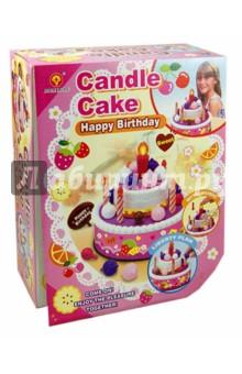 Игрушка Торт в день рождения (44018)Наборы игрушечной посуды<br>Игрушка для ролевых игр Торт в день рождения.<br>В наборе: торт и пироженое.<br>Материал: пластмасса.<br>Для работы требуется 2 батарейки типа АА (в набор не входят).<br>Для детей старше 3-х лет. Содержит мелкие детали.<br>Сделано в Китае.<br>