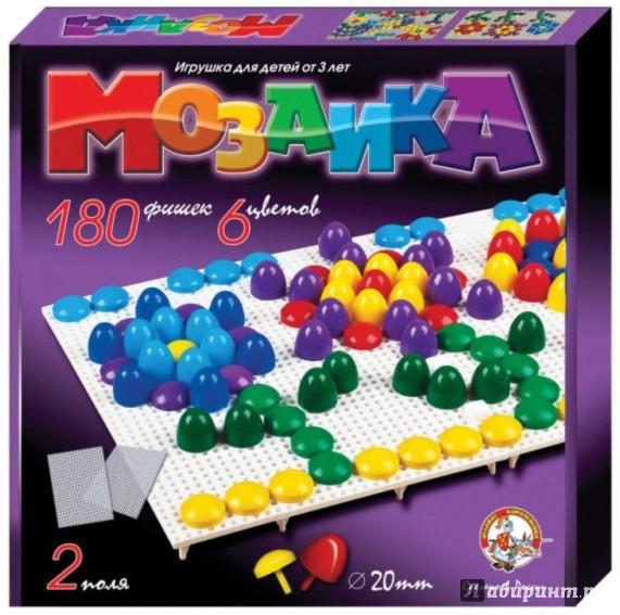 Иллюстрация 1 из 14 для Мозаика (d=20, 6 цветов, 180 штук, 2 поля) (2007)   Лабиринт - игрушки. Источник: Лабиринт