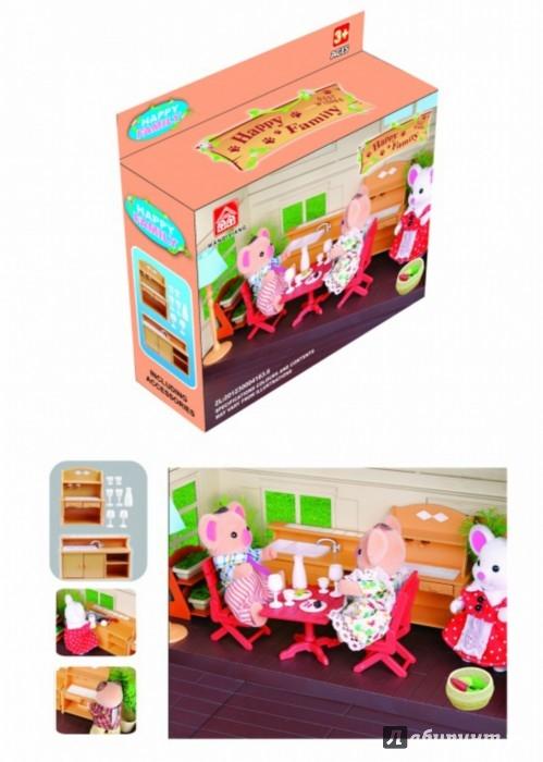 """Иллюстрация 1 из 5 для Игровой набор """"Мебель для кухни"""" с аксессуарами (012-03В)   Лабиринт - игрушки. Источник: Лабиринт"""
