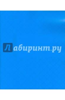 Тетрадь 12 листов, клетка, пластиковая обложка, голубая (120101)