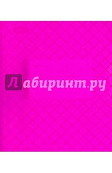 Тетрадь 12 листов, клетка, пластиковая обложка, розовая (120103)