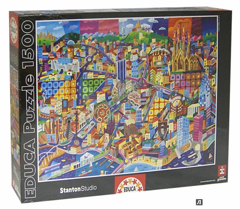 """Иллюстрация 1 из 2 для Пазл-1500 """"Барселона, Филипп Стэнтон"""" (16001)   Лабиринт - игрушки. Источник: Лабиринт"""