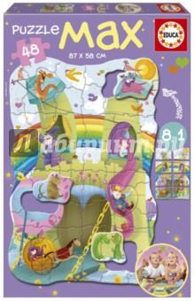 Пазл-мега Рыцари и принцессы (15902)Пазлы (15-50 элементов)<br>Пазл-мозаика.<br>Размер собранной картинки: 87х58 см.<br>Правила игры: вскрыть упаковку и собрать игру по картинке.<br>Не давать детям до 3-х лет из-за наличия мелких деталей.<br>Упаковка: картонная коробка.<br>Сделано в Испании.<br>