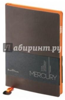 """Ежедневник недатированный """"Mercury"""" (А5, коричневый) (3-435/05) Bruno Visconti"""