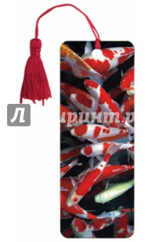 """3D закладка для книг с линейкой """"Яркие рыбки"""" (125780)"""