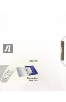 Папка-бокс с резинкой (А4, 30 мм, белый) (3956-00-04)Папки-конверты на резинках<br>Высококачественная папка-бокс из полипропилена с эффектом мягко отполированного металла.<br>Идеально подходит для хранения и транспортировки объемных документов, различных папок или других продуктов линии Style.<br>Характеристики:<br>- Подходит для хранения папок с 3-мя клапанами Style, книг с карманами, папок Leitz CombiFile и других папок стандартного размера;<br>- Этикетка на корешке для легкой идентификации содержимого;<br>- Стильная застежка на резинке для надежной транспортировки;<br>- Вместимость: 250 листов (80 г/м2).<br>Для хранения бумаги формата А4.<br>Толщина: 30 мм.<br>Сделано в Китае.<br>