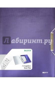 Папка-бокс с резинкой (А4, 30 мм, синий) (3956-00-69)Папки-конверты на резинках<br>Высококачественная папка-бокс из полипропилена с эффектом мягко отполированного металла.<br>Идеально подходит для хранения и транспортировки объемных документов, различных папок или других продуктов линии Style.<br>Характеристики:<br>- Подходит для хранения папок с 3-мя клапанами Style, книг с карманами, папок Leitz CombiFile и других папок стандартного размера;<br>- Этикетка на корешке для легкой идентификации содержимого;<br>- Стильная застежка на резинке для надежной транспортировки;<br>- Вместимость: 250 листов формата (80 г/м2).<br>Для хранения бумаги А4.<br>Толщина: 30 мм.<br>Сделано в Китае.<br>