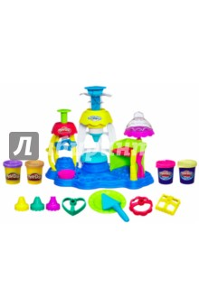 Набор  Фабрика пирожных (0318E24A)Наборы для лепки с игровыми элементами<br>Набор  Фабрика пирожных<br>С помощью Play-Doh PLUS вы можете создать более реалистичные детали сладостей, при меньших усилиях. Розочки, цветочки, фигурки - все, что пожелаете! А благодаря фабрике и множеству формочек, входящих в комплект, вы можете создать всевозможные пирожные. <br>Изготовлено из пластилина. <br>Не рекомендовано детям до 3-х лет.<br>Для детей старше 3-х лет. <br>Сделано в Китае.<br>