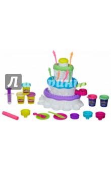 Набор Игровой Праздничный торт (A7401)Наборы для лепки с игровыми элементами<br>Набор Игровой Праздничный торт<br>Открой чудесный мир сладостей с этим праздничным тортом! Снаружи украшай его с помощью пластилина Play-Doh PLUS, а внутри храни все свои кондитерские инструменты. В комплект входят пять больших баночек пластилина Play-Doh.<br>Изготовлено из пластмассы и пластилина. <br>Упаковка: картонная коробка.<br>Для детей старше 3-х лет. <br>Сделано в Китае.<br>