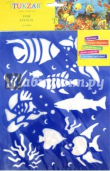 Трафарет пластиковый Подводный мир (TZ 15518)