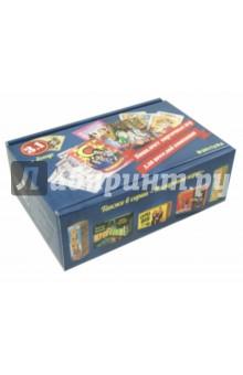 Карты игральные (3 в 1) (7772)Карточные игры для детей<br>Коробочное исполнение. Игра включает в себя:<br>Мафия - 17 карт<br>Фанты - 54 карты<br>Я знаменитость - 54 карты + 4 обруча на голову<br>Сделано в России.<br>