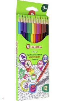 Карандаши цветные шестигранные (12 цветов) (B33112/N)Цветные карандаши 12 цветов (9—14)<br>Набор цветных шестигранных карандашей.<br>В наборе карандаши (12 цветов).<br>- 12 высококачественных шестигранных карандашей;<br>- Уникальный ударопрочный грифель, толщина - 3 мм;<br>- Яркие, насыщенные цвета;<br>- Проводят очень мягкие, яркие линии;<br>- Легко стираются ластиком;<br>- При производстве используется только натуральная древесина.<br>Для детей от 3-х лет.<br>Не предназначены для детей до 3-х лет. Содержат мелкие детали.<br>До 3-х лет использовать под присмотром взрослых.<br>Сделано в России.<br>