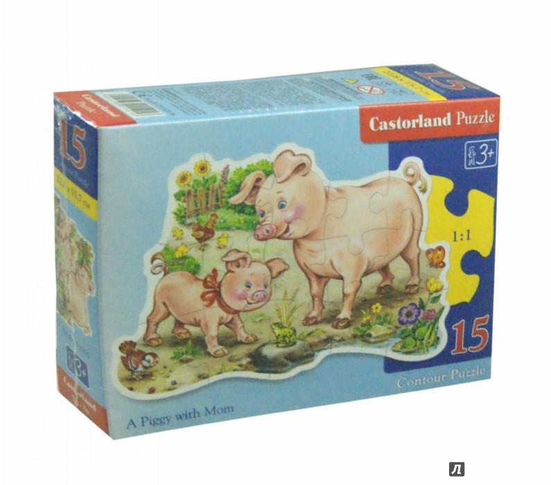 Иллюстрация 1 из 13 для Puzzle - 15. Поросята (B-015016) | Лабиринт - игрушки. Источник: Лабиринт