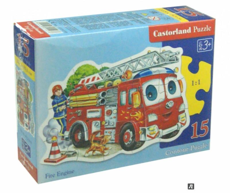 Иллюстрация 1 из 11 для Puzzle - 15. Пожарная машина  (B-015078)   Лабиринт - игрушки. Источник: Лабиринт