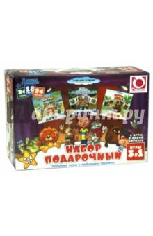 Настольная игра Союзмультфильм Подарочный набор 3 в 1 лото, домино, мемо