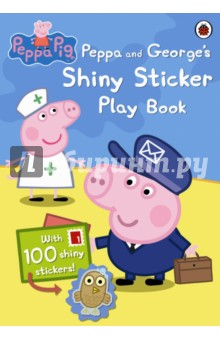 Peppa and Georges Shiny Sticker Play BookАнглийский для детей<br>All little piggies love stickers! Join Peppa and George in this fun sticker play book. There are activities to do and games to play. Use the stickers to complete the fun!<br>Grunt! Grunt!<br>