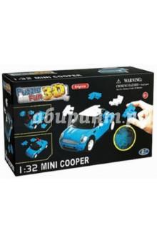 Настольная игра Mini Cooper матовый синий. 3D пазл