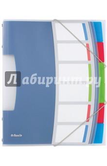 Папка-разделитель А4. С резинкой. 6 разделителей (624029)Разделители<br>Качественная папка с разделителями в ярком притягательном дизайне VIVIDA. <br>Формат А4.<br>6 цветных разделителей<br>Полупрозрачный полипропилен толщиной 0,5 мм. <br>Для хранения и организации документов.<br>Сделано в Китае.<br>