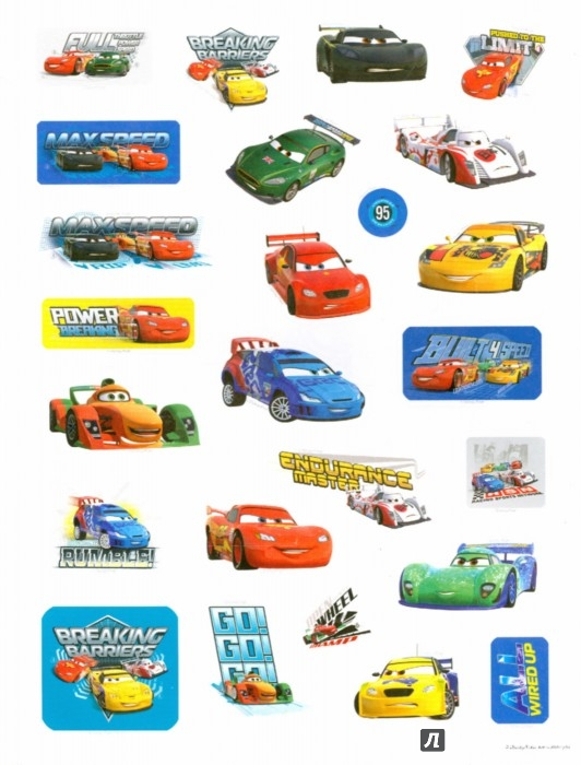 """Иллюстрация 1 из 7 для 100 наклеек """"Disney/Pixar. Тачки""""   Лабиринт - книги. Источник: Лабиринт"""