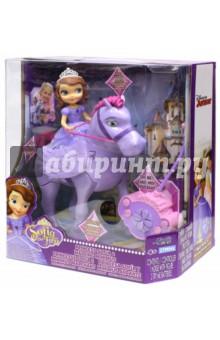 София Прекрасная и крылатый конь Минимус (84195)Куклы<br>София Прекрасная и крылатый конь Минимус. Игрушка со звуком для маленьких принцесс!<br>Кукла на радиоуправляемой лошади.<br>В наборе: фигурка Софии  Прекрасной, фигурка коня (работает от 4 батареек типа АА), пульт управления (работает от 2 батареек типа АА). Батарейка в комплект не входят.<br>Материал: пластмасса.<br>Упаковка: картонная коробка.<br>Для детей от 4 лет.<br>Сделано в Китае.<br>