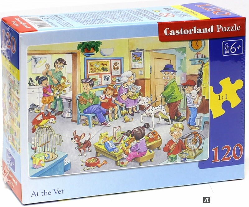 """Иллюстрация 1 из 11 для Puzzle-120 MIDI """"Ветклиника"""" (В-13104)   Лабиринт - игрушки. Источник: Лабиринт"""