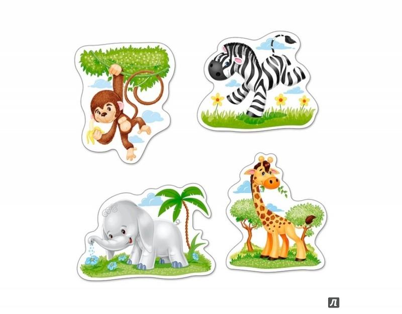 """Иллюстрация 1 из 8 для Puzzle-3х4х6х9 """"Африканские животные"""" (В-005017)   Лабиринт - игрушки. Источник: Лабиринт"""