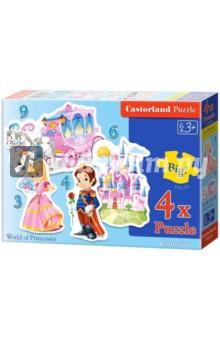 Puzzle-3х4х6х9 Мир принцесс (В-005031)Наборы пазлов<br>Пазл-мозаика.<br>Способствуют развитию образного и логического мышления, наблюдательности, мелкой моторики и координации движений руки.<br>В наборе 4 контурных пазла.<br>Количество элементов: 3, 4, 6, 9<br>Размер картинок: 15,5х11 см<br>Материал: картон.<br>Упаковка: картонная коробка.<br>Правила игры: вскрыть упаковку и собрать игру по картинке.<br>Для детей от 3-х лет.<br>Не давать детям до 3-х лет из-за наличия мелких деталей.<br>Сделано в Польше.<br>