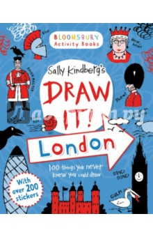 Draw it! London - Activity BookИзучение иностранного языка<br>Add boats to the map of the Thames, put fish in the pelican s mouth, draw the Jurassic fossils you spot in Green Park underground station and much more! Experience weird and wonderful London with this amazing doodle book, bursting with strange facts, fun things to colour in, maps, and plenty of space to draw! The fantastic  Draw it!  series from Sally Kindberg has weird and wonderful doodles for every occasion. Perfect for every journey, rainy afternoon or holiday, each book is packed full of fun and wacky things to draw and colour, guaranteed to get every kid from age 6-106 drawing away! Each includes over 100 stickers.<br>