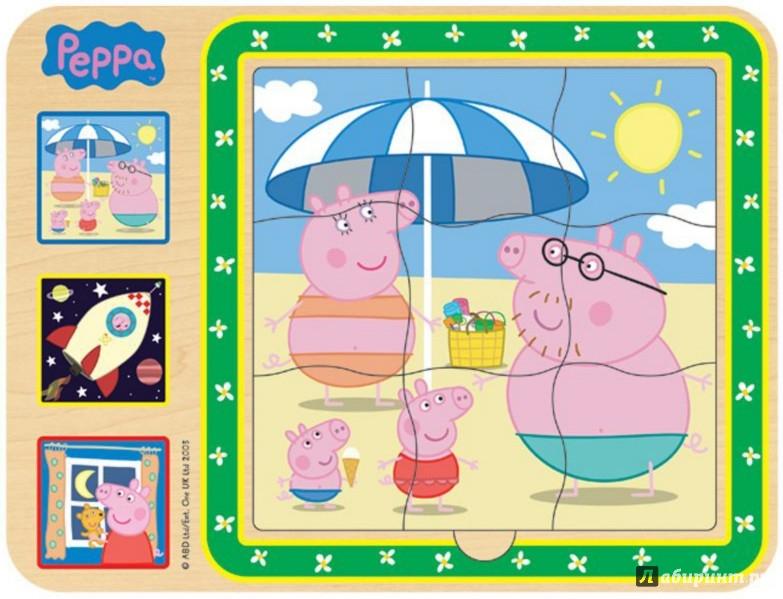 """Иллюстрация 1 из 7 для Пазл трехслойный """"Peppa Pig"""" (дерево) (24451)   Лабиринт - игрушки. Источник: Лабиринт"""