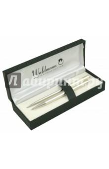 Набор: ручкашариковая, нож,Серебро 925 пробы (0003/0128)Офисные наборы (настольные)<br>Подарочный набор.<br>В наборе: ручка шариковая автоматическая, нож.<br>Цвет чернил: синий.<br>Материал: серебро 925 пробы.<br>Упаковка: подарочная коробка с серебряным тиснением.<br>Сделано в Германии.<br>