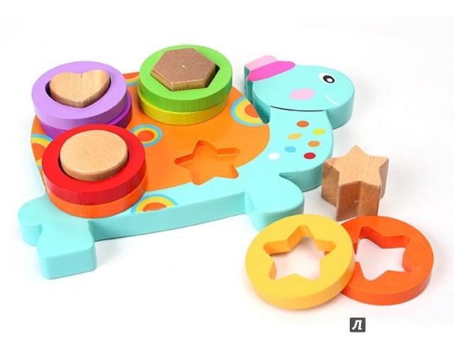 """Иллюстрация 1 из 2 для Логика Сортер """"Черепаха"""" (19,3х14х4 см) (GT7210)   Лабиринт - игрушки. Источник: Лабиринт"""