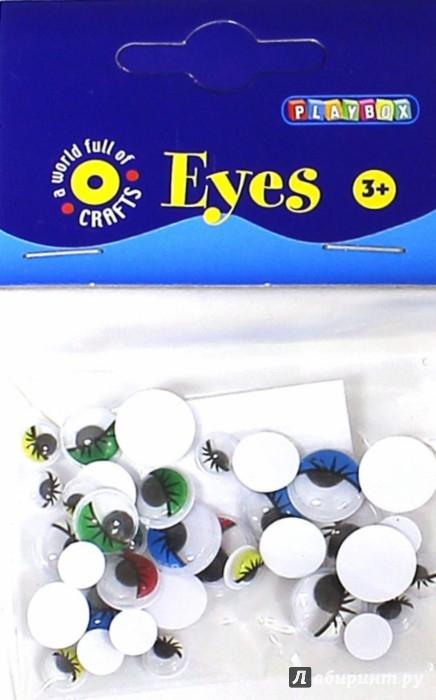 Иллюстрация 1 из 5 для Набор цветных глаз с ресничками (2470033)   Лабиринт - игрушки. Источник: Лабиринт