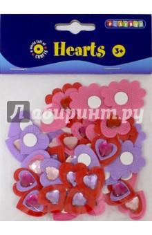 Набор самоклеящихся сердец (2470093)Сопутствующие товары для детского творчества<br>Набор самоклеящихся сердец со стразами.<br>Не рекомендуется детям до 3-х лет. Содержит мелкие детали.<br>Сделано в Швеции.<br>