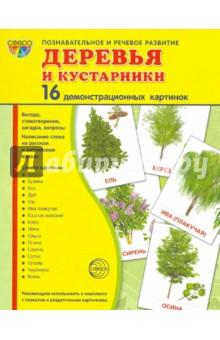 """Демонстрационные картинки """"Деревья и кустарники"""" (173х220 мм)"""